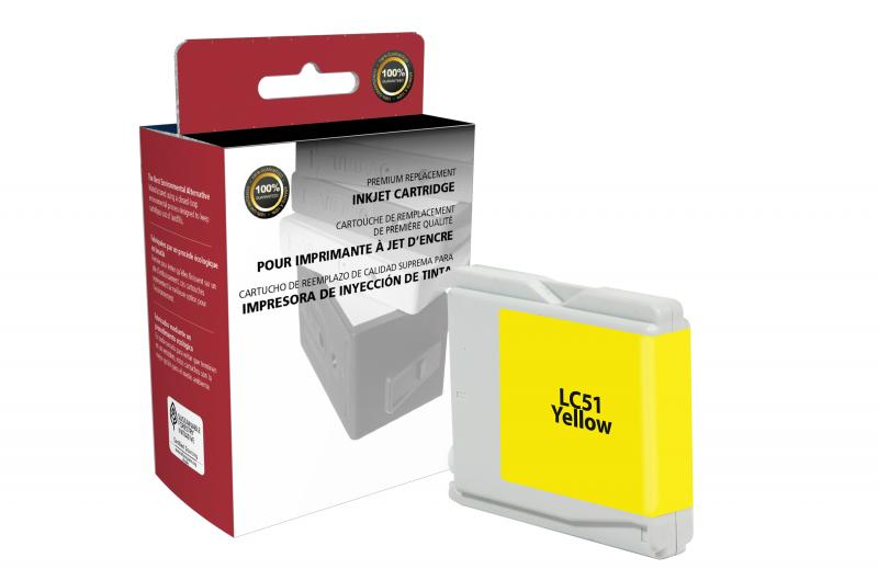 Brother Lc51y Ctglc51y Cig Remanufactured Yellow Ink